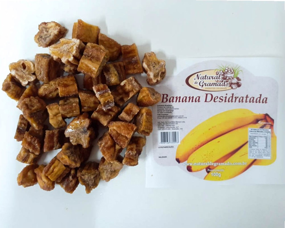 Banana Desidratada em Cubos